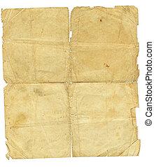 vendimia, papel, viejo, textura