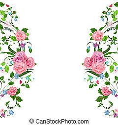 vendimia, patrón floral