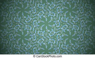vendimia, plano de fondo, patrón floral