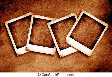 vendimia, polaroid, marco