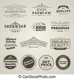 vendimia, prima, calidad, etiquetas