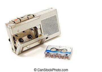 vendimia, registrador, cassette, micro