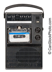 vendimia, registrador, cinta cassette