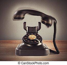 vendimia, resonante, teléfono