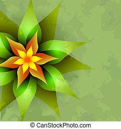 vendimia, resumen, flor, plano de fondo