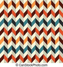 vendimia, seamless, zigzag, patrón