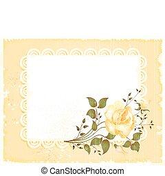vendimia, tarjeta de felicitación