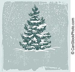 vendimia, tarjeta de navidad