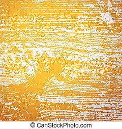 vendimia, textura de madera, con, amarillo, viraje, filtro, efecto, vector, plano de fondo