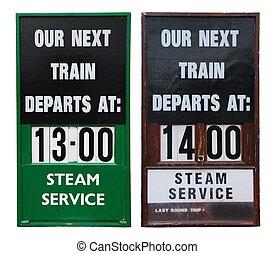 vendimia, tren, carteles