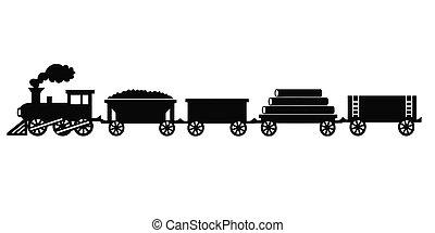 vendimia, tren de juguete