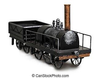 vendimia, tren, juguete