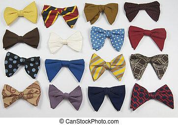 vendimia, variado, corbatas de moño