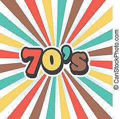 vendimia, vector, arte, plano de fondo, 70s