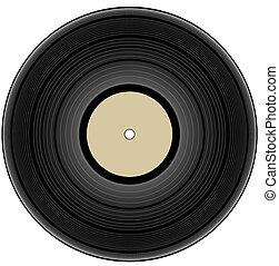 vendimia, -, vinilo, ilustración, registro
