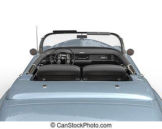 vendimia, vista, -, espalda, coche