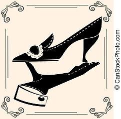 vendimia, zapato