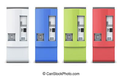 Vending machine different colors - Vending machine for...