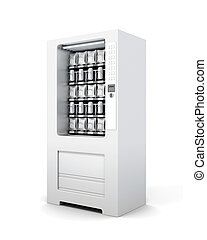 Vending machine for snacks and soda isolated. 3d rendering
