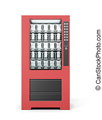 Vending machine isolated on white background. 3d rendering