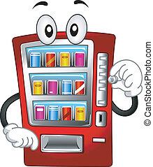 Vending Machine Mascot - Mascot Illustration Featuring a ...