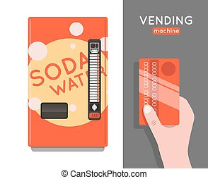 Vending machine set. Sell snacks and soda drinks vending...