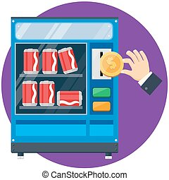 vending machine with hand drop gold dollar