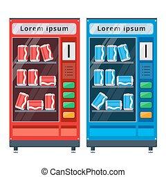 vending machines flat vector illustration