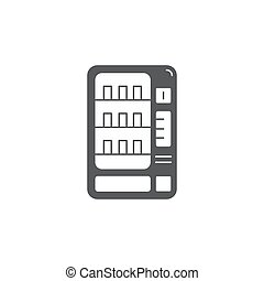 vending machines vector icon, sign, illustration on background