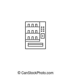 vending, znak, ilustracja, wektor, tło, ikona, maszyny