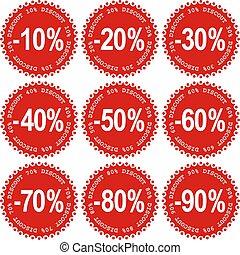 vendita, adesivi
