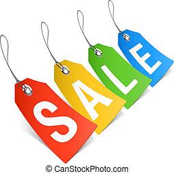 vendita, cartellini prezzo