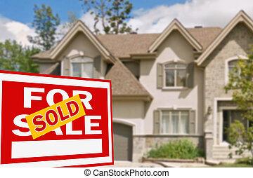 vendita, casa, segno