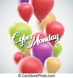 vendita, cyber, lunedì, etichetta