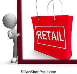 vendita dettaglio fa spese, segno, mostra, vendita compra, merce, vendite