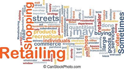 vendita dettaglio, parola, nuvola