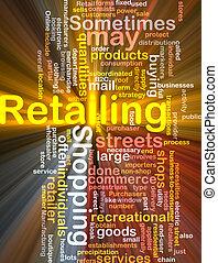 vendita dettaglio, parola, nuvola, scatola, pacchetto