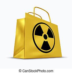 vendita dettaglio, radioattivo, shopping