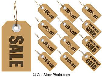 vendita, etichette