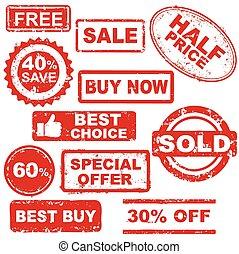 vendita, francobolli