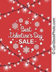 vendita, illustrazione, valentina, s, vettore, giorno, meglio