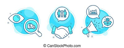 vendita, infographic, linea, discount., segno., set., icone, servizio, grafico, diagramma, automobile, avvio, associazione, vettore, affari