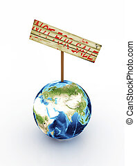 vendita, isolato, pianeta, fondo, non, bianco