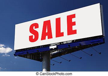 vendita, parola, su, billboard.