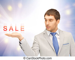 vendita, parola, su, il, palma