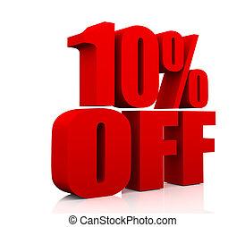 vendita, promozione, testo, 10, percento, spento