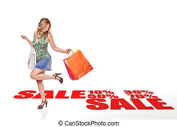 vendita, shopping