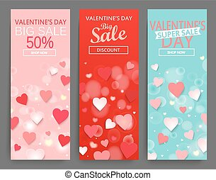 vendita, testata, per, felice, giorno valentines, celebration.