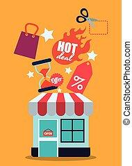 vendite, e, vendita dettaglio