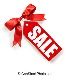 vendite, etichetta, isolato, bianco